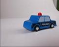 pull-back motor(police car) model cars wooden children toys 3