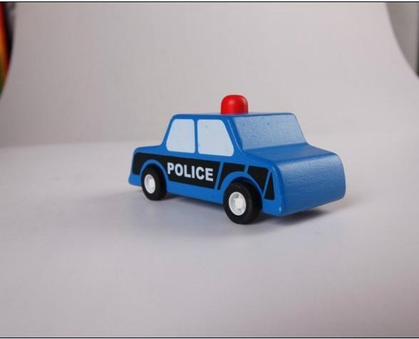 pull-back motor(police car) model cars wooden children toys 4