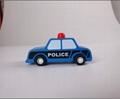 pull-back motor(police car) model cars wooden children toys 5