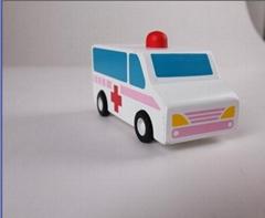 pull-back motor(ambulance) wooden