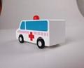 pull-back motor(ambulance) wooden children toys gifts 3