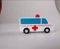 pull-back motor(ambulance) wooden children toys gifts 5