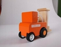 construction works series - forklift wooden toys cars 3