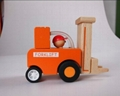 construction works series - forklift wooden toys cars 4