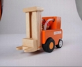 construction works series - forklift wooden toys cars 5