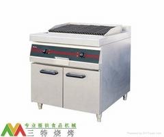 火山石烤爐連櫃座