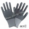 13G Polyester/Nylon Shell  PU Glove