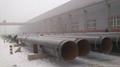 Fluid transportation spiral steel pipe