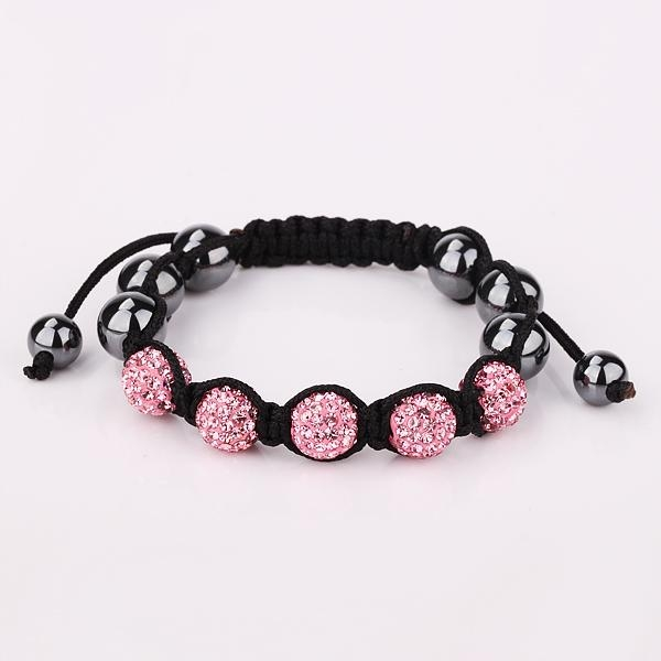 free shipping  with shamballa beads charms bracelet for lady! 1