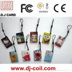 RFID Epoxy smart card/ irregular shape epoxy card/plastic card