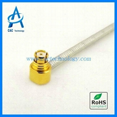 18GHz SMP right angle female 085 086 semi-flexible coaxial cable assembly