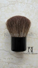 hot sell kabuki brush with brown HJF goat hair