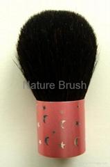 kabuki brush with HJF goat hair pink lovely aluminum ferrule