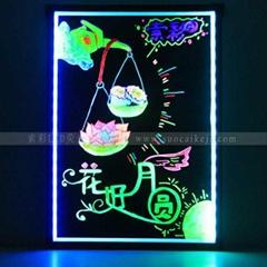 索彩虹圖熒光板
