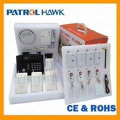 voice intercom LCD display and keypad security gsm wireless alarm system