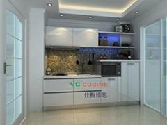 white modern pvc kitchen cabinet