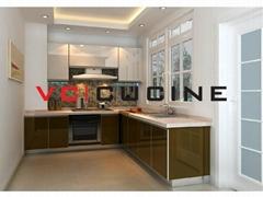 L shape UV kitchen cupboard