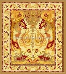 patchwork hotel style  handmade wool carpet
