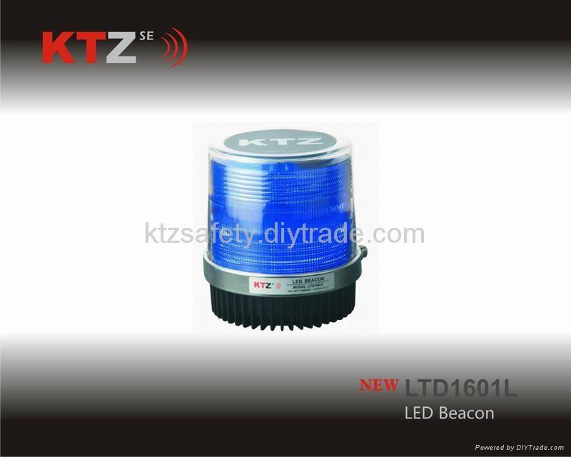 blue color magnetic piranha LED traffic beacon(LTD1601L) 1