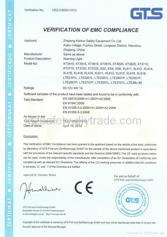 blue color magnetic piranha LED traffic beacon(LTD1601L) 4