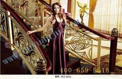 室內高檔合金樓梯扶手