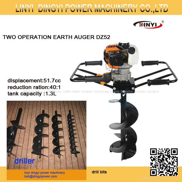 two men operation earth auger 1