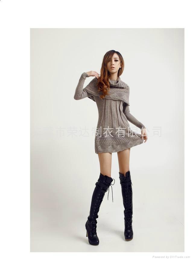 长款时尚针织衫 2