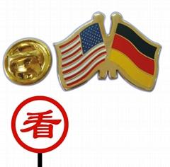 soft enamel flag lapel pin