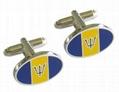 Custom corporate logo cufflink