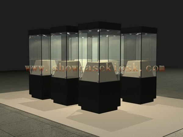 Museum Display Glass Tower Case Ck0066 Benztto China