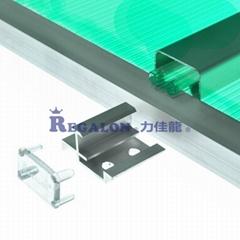 工程专用U型锁扣阳光板