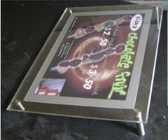 Acrylic advertising crystal led light box
