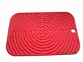 Silicone tableware red silicone hot mat pad blue silicone kitchenware