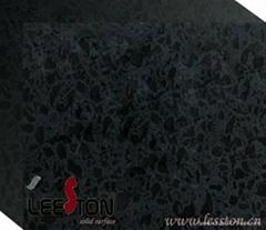 Black Quartz Plate 3050mm(L)  750mm (W)