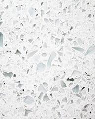 Pure White Color Quartz Surface for Worktops, L 3050mm, W 750mm, T 15mm