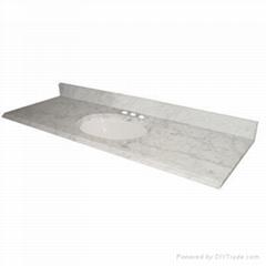 Polished White Nature Stone Carrara Marble Vanity Tops