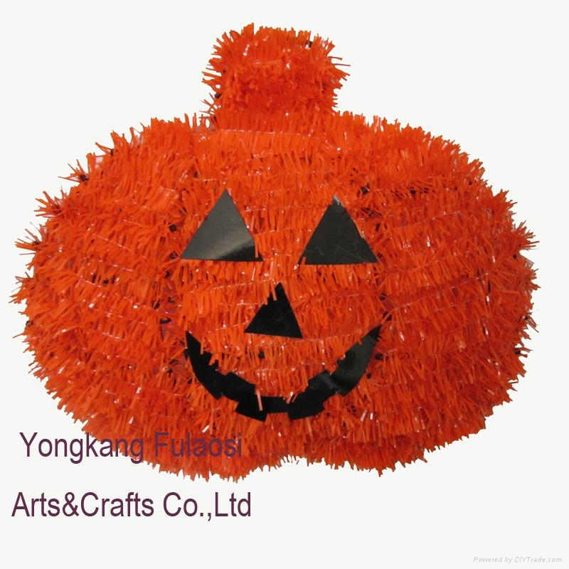 Halloween hanging tinsel decoration pumpkin 1