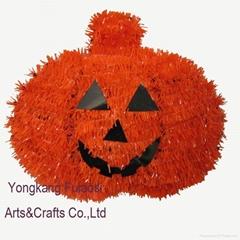 Halloween hanging tinsel decoration pumpkin