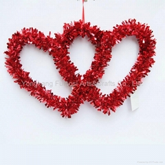 Valentine's day wreath double heart