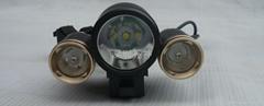 自行車頭燈強光手電筒鋁合金電筒