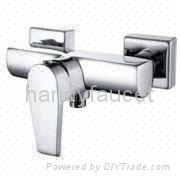 Popular Square Style Wall Mounted Single Handle Operation Shower Mixer, 2013 New