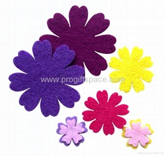 Assorted Felt Flowers Shapes