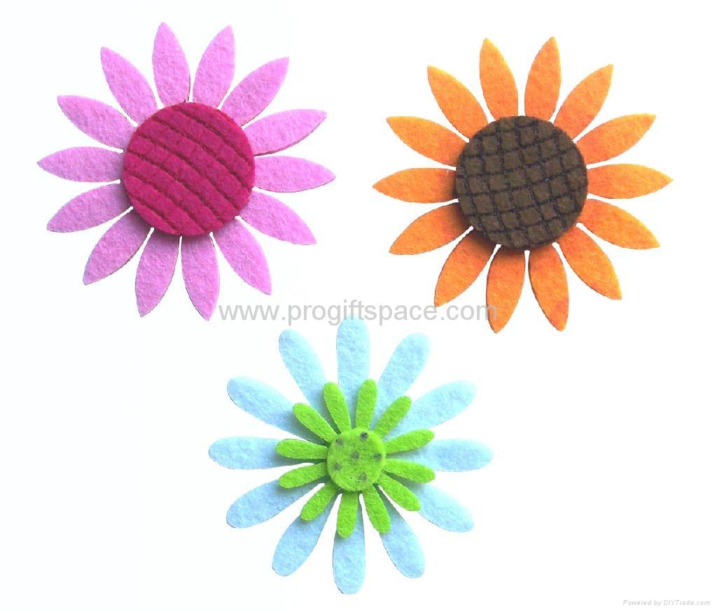 Assorted Felt Flowers Crafts