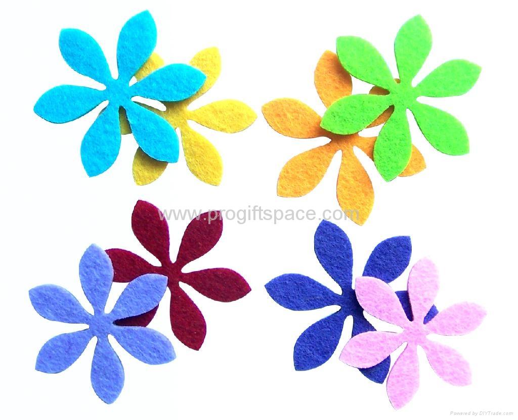Assorted Felt Flowers Shapes - RF11008