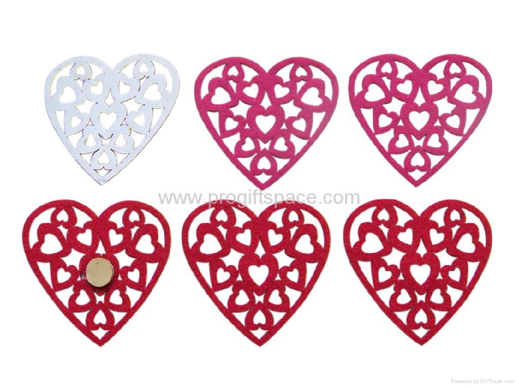 Valentine Gift- Felt Hearts 4