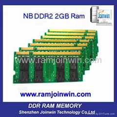 Register trades full compatible laptop Ram DDR2 667 2GB
