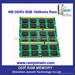 FCC CE RoHS cheap price 8bits 1600mhz ddr3 laptop 8gb ram