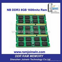 FCC CE RoHS cheap price 8bits 1600mhz ddr3 laptop 8gb ram
