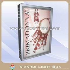 Aluminium frame scrolling light box