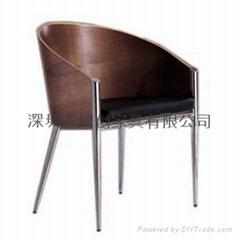 曲木休閑咖啡圍椅圖片